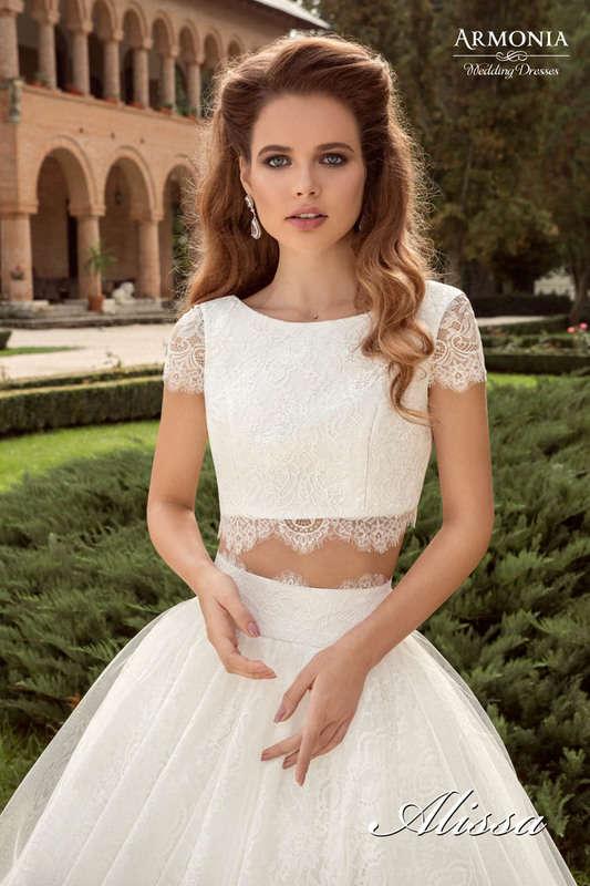Тренд 2016 года: свадебные платья — топ и юбка