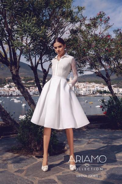 Короткие свадебные платья – популярное решение для ярких невест